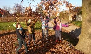 otoño niños